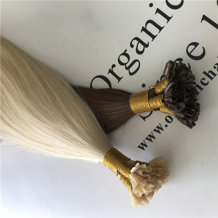 High quality human hair extensions--Pre-bonded Utip hair extensions C25