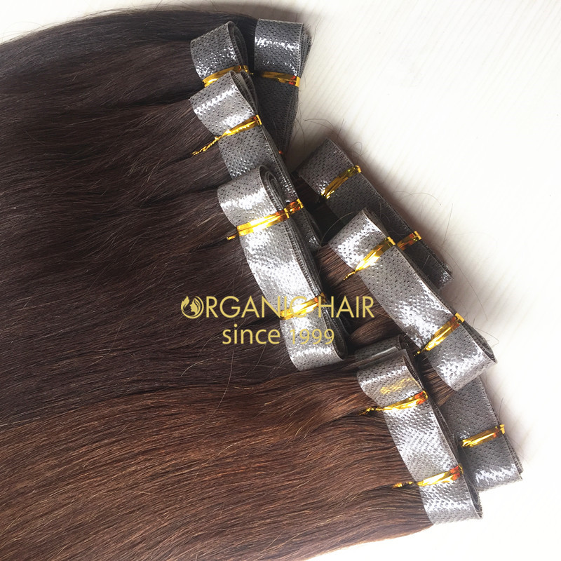 100 remy human hair extensions skin weft hair extensions