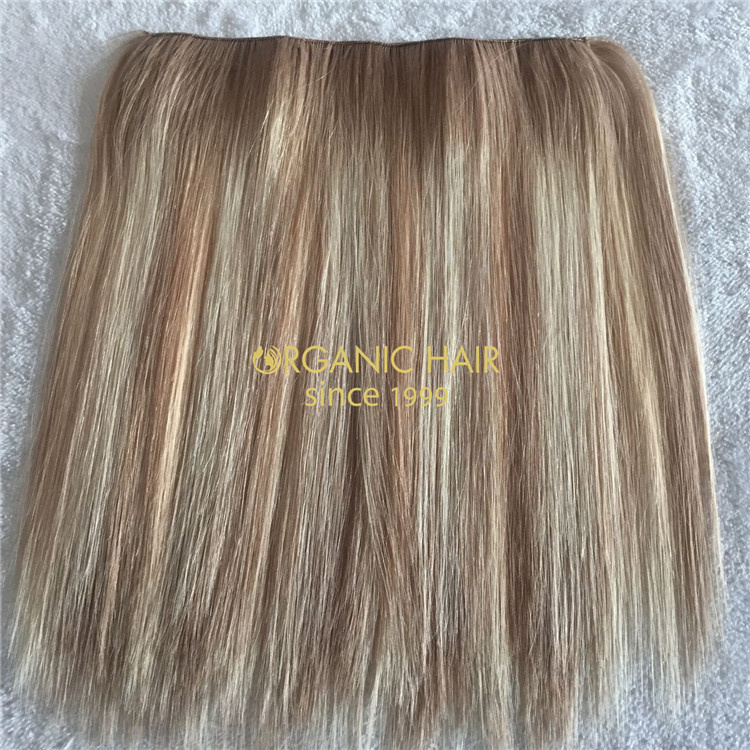 100% real human halo hair extensions wholesale V62