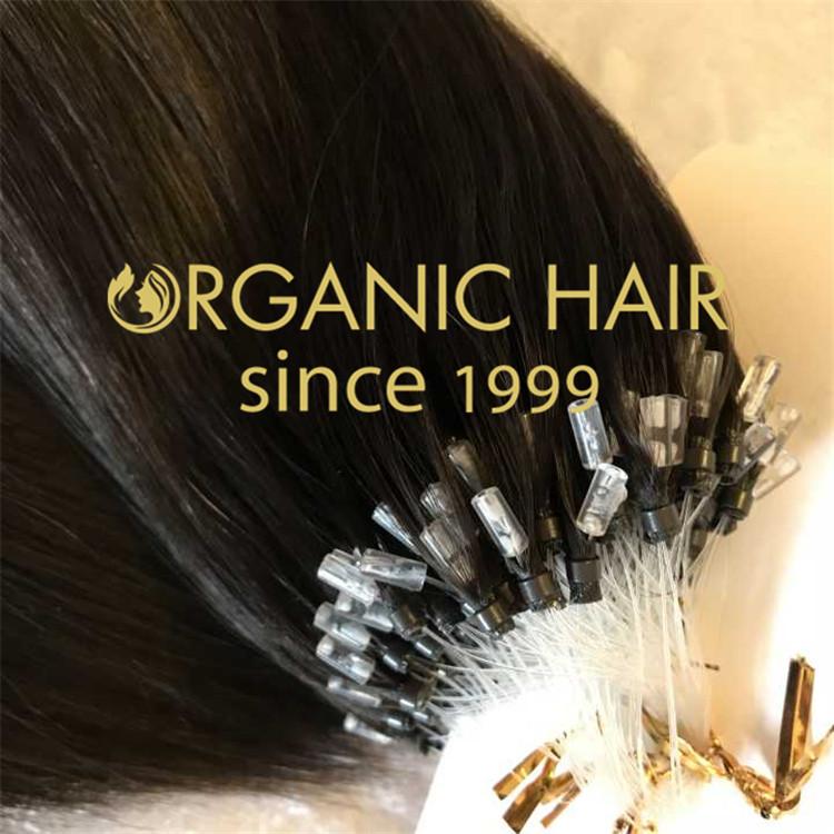 Black Color Top Quality Virgin 100 Human Hair 1gramstrand Micro
