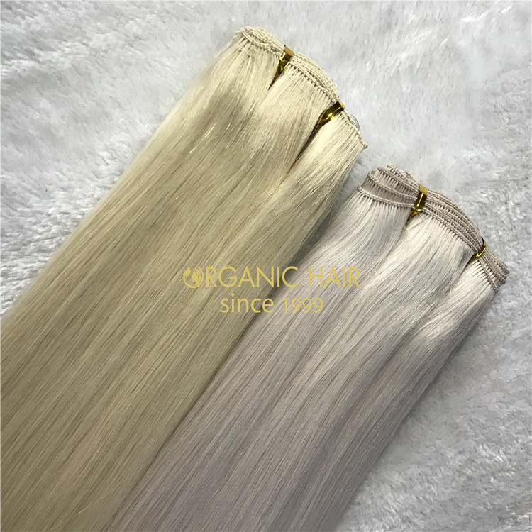 113grams #60A VS 100grams #60,with remy cuticle human hand-tied wefts A148