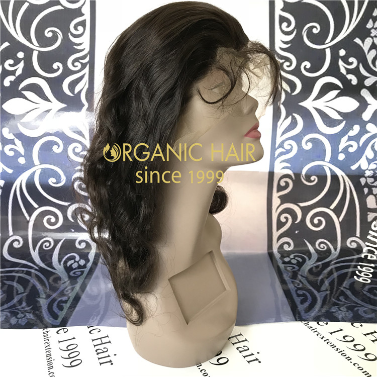 16 inch 360 lace closure wig with cheap price A87