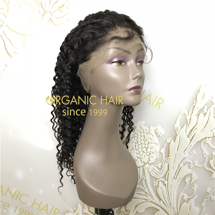 18 inch 130 density 100% remy human full lace wig with large cap size A88