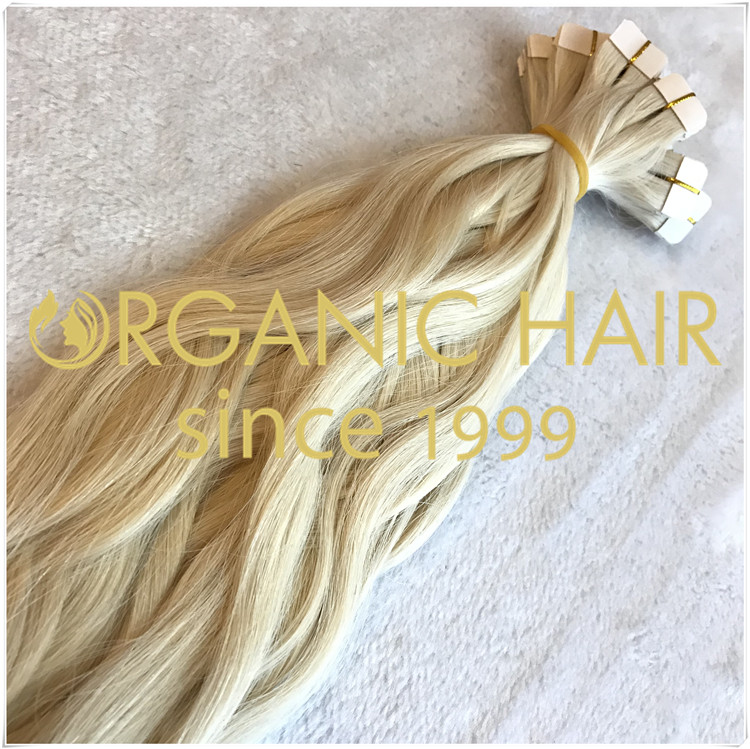 #60 natural straight tape in hair extensions CNY022