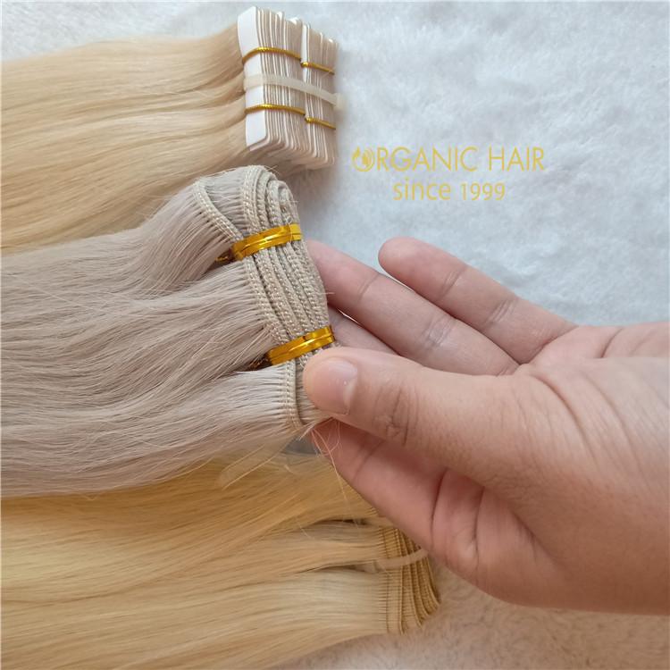 20inch #60A Double drawn hair weft extension with best quality A120