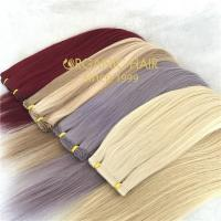 Vivid color full cuticle human hair extensions  C47