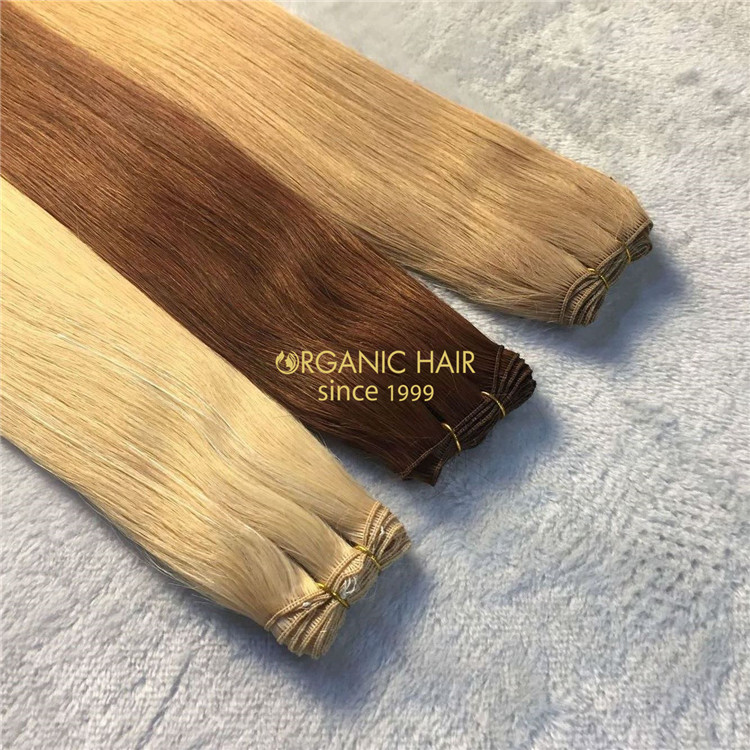 #33 color remy cuticle hand-tied wefts with   wholesale price A150