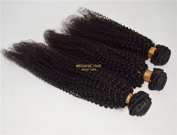 Afro kinky curly brazilian remy hair extensions for black women