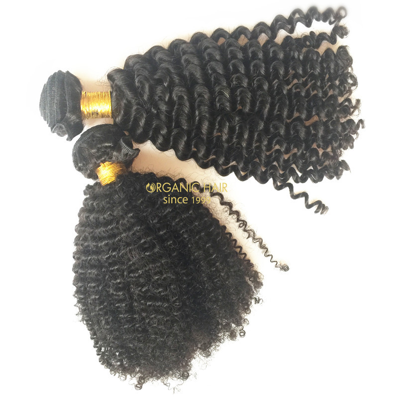 Afro kinky curly hair extensions for black women