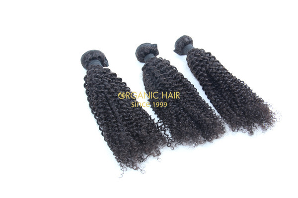 Afro kinky curly remy human hair extensions