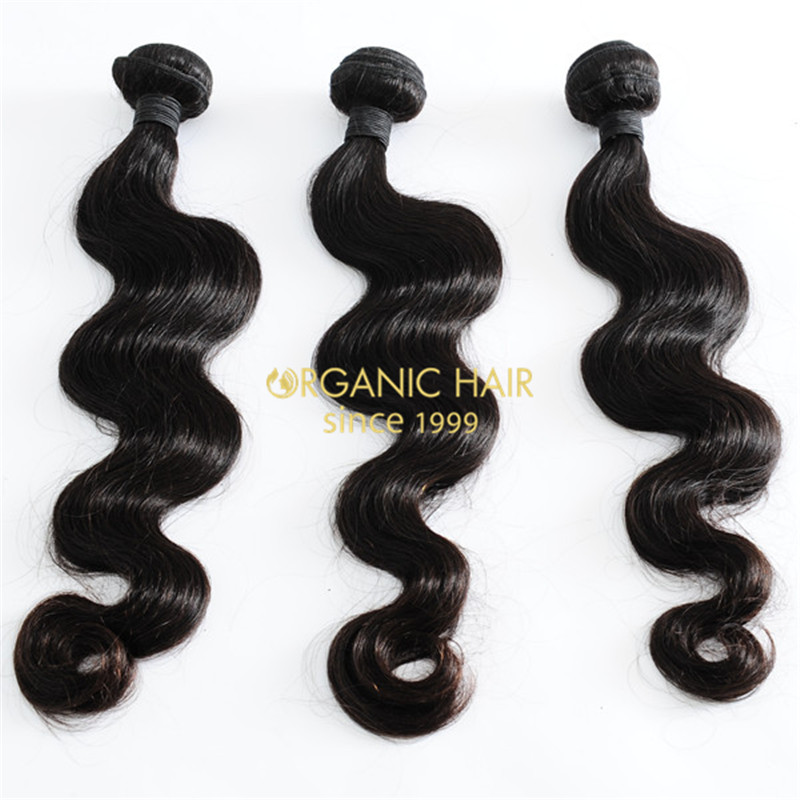 Black remy human hair extensions