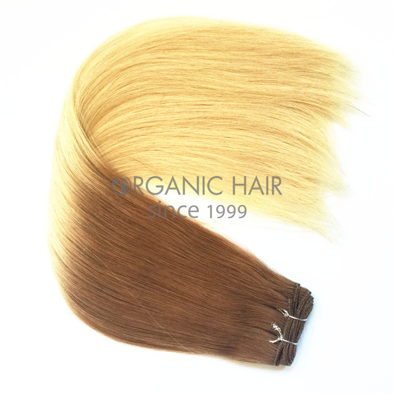 Brazilian colored natural hair extensions