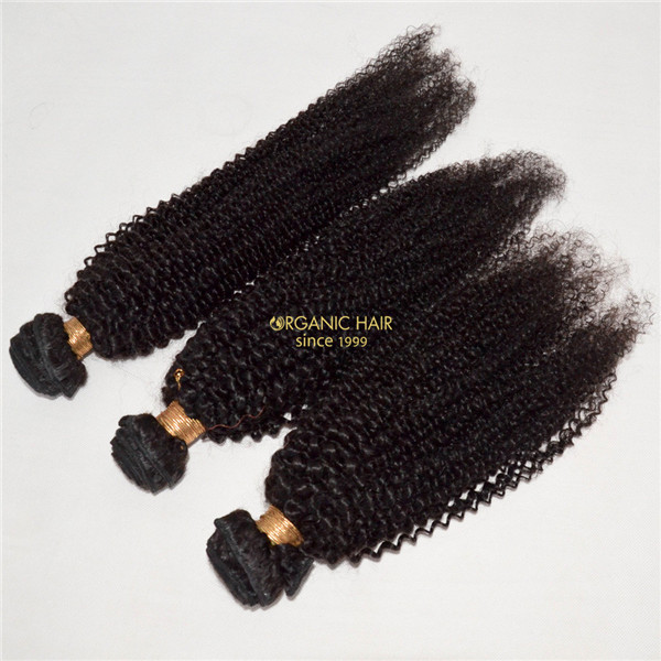 Brazilian curly human hair extensions