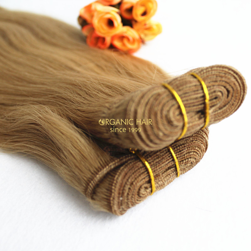 Brazilian straight colored human hair extensions
