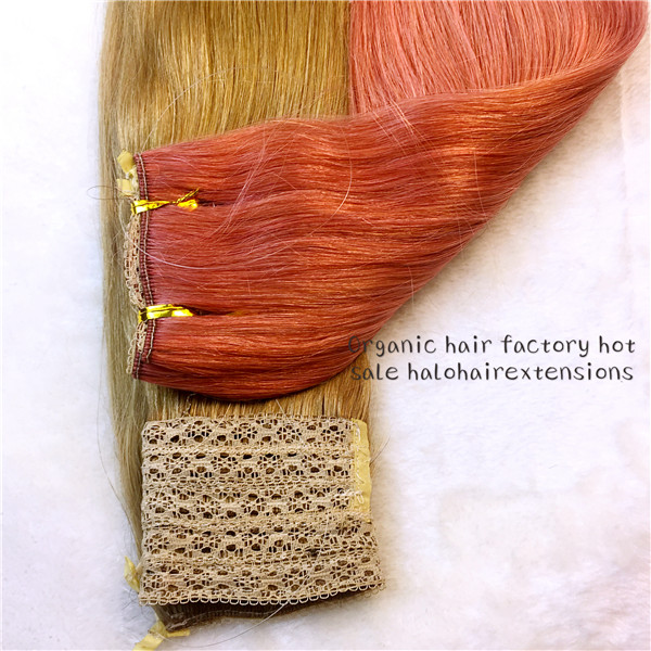 Halo hair  flip in hair extension 100% Brazilian remy human hair  Hot sale GT06