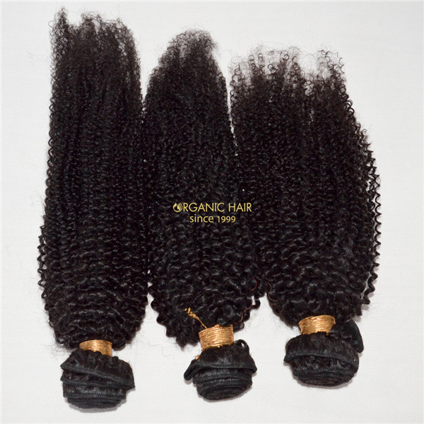 Cheap afro kinky curly human hair extensions for UK market black women