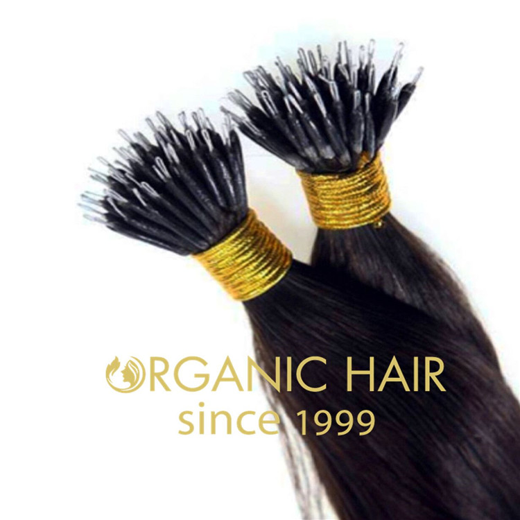 Cheap and double drawn 100% virgin human hair nano link ring hair extension wholesale A30