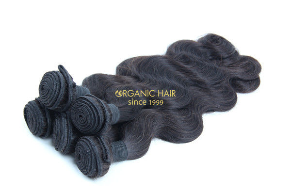 Cheap body wave virgin remy human hair extensions