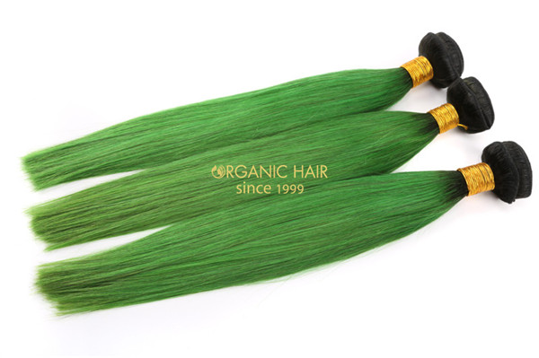 Cheap green hair extensions