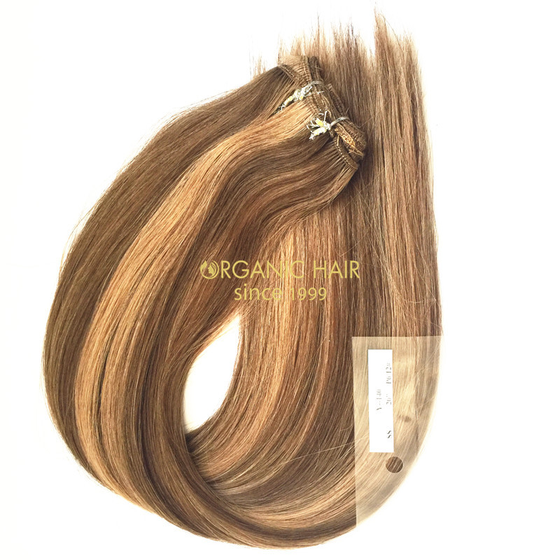Colored brazilian remy hair extensions