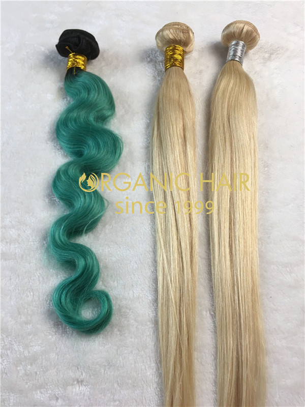 Colored virgin hair extensions Qingdao l2