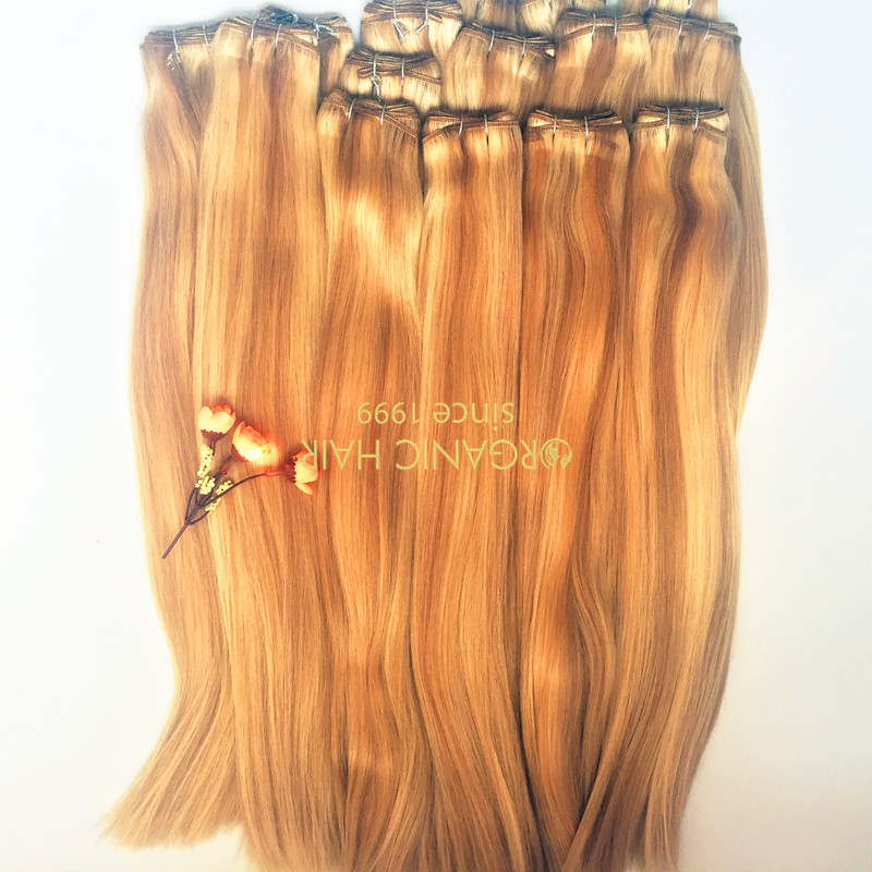 Colored virgin remy human hair extensions