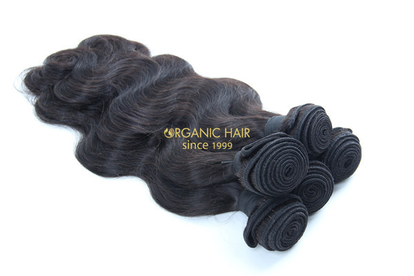 Curly real human hair extensions
