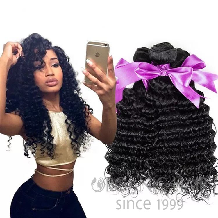 Curly remy human hair extensions