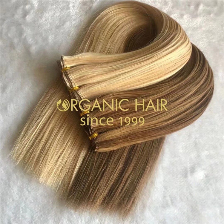 Customized piano highest quality cuticle intact hand tied wefts A169