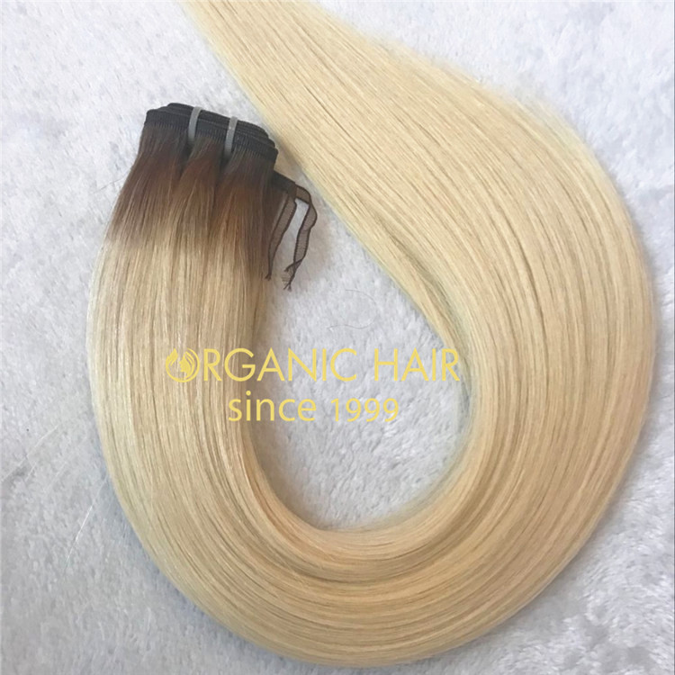 Customized T#6/#60 color thickness end flat weft for lady A129