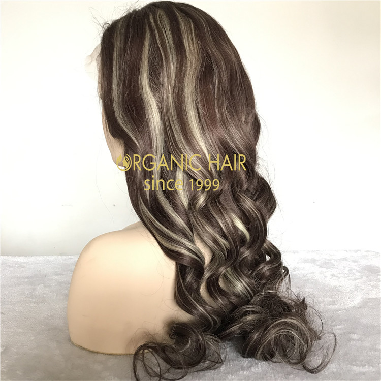 Customized 26inch 130density piano color full lace wig A143
