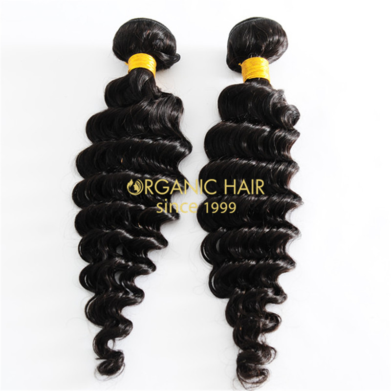 Deep wave brazilian remy human hair weave