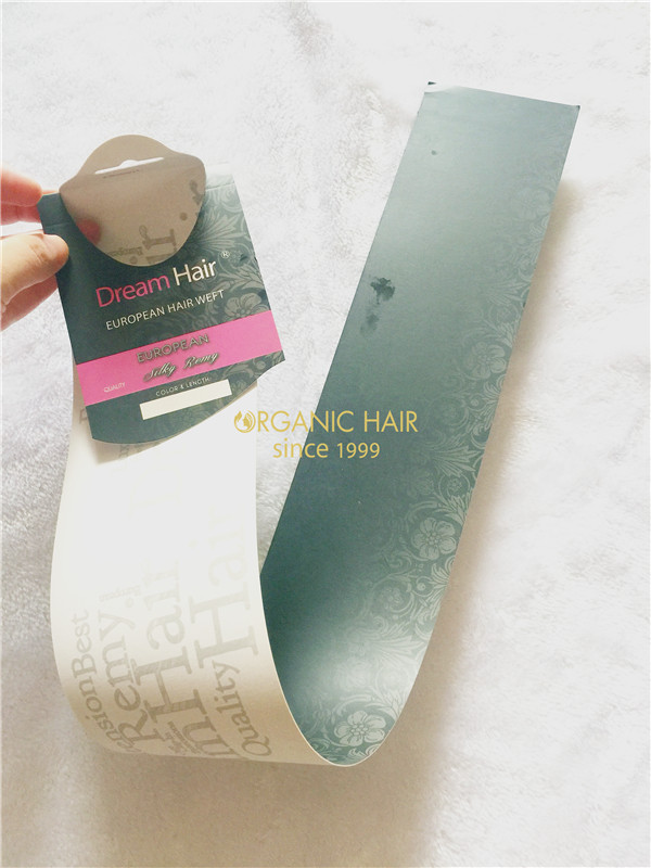 Factory directly sale human hair packaging design