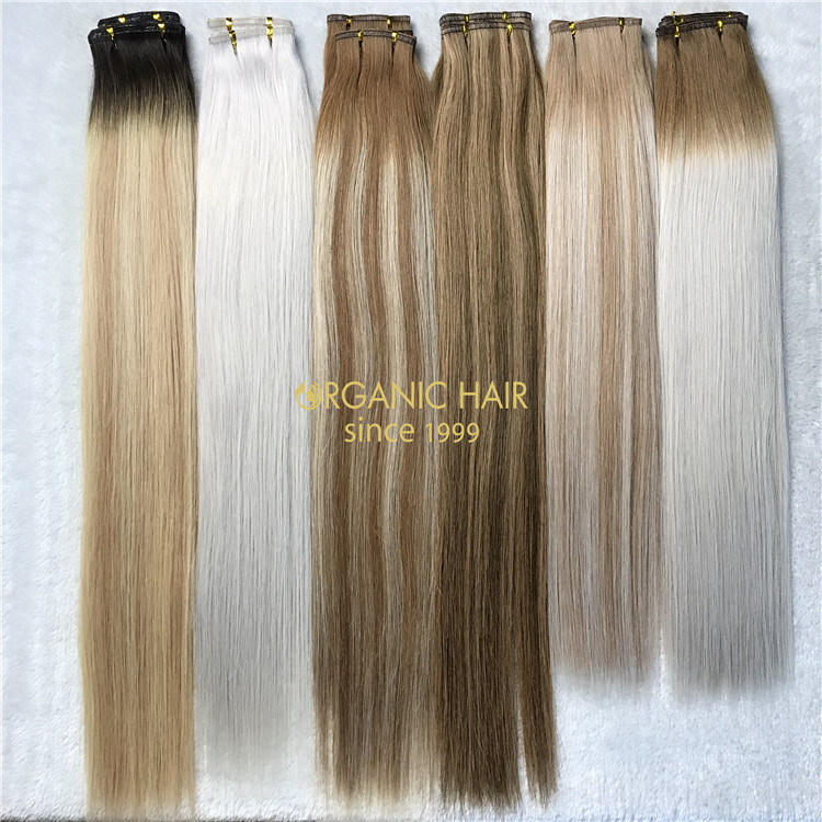 Human flat weft ombre color on sale X152