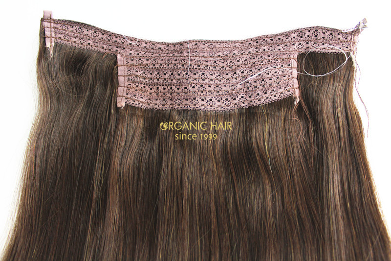 Factory Price Full Cuticles Remy Hair Halo Hair Extension