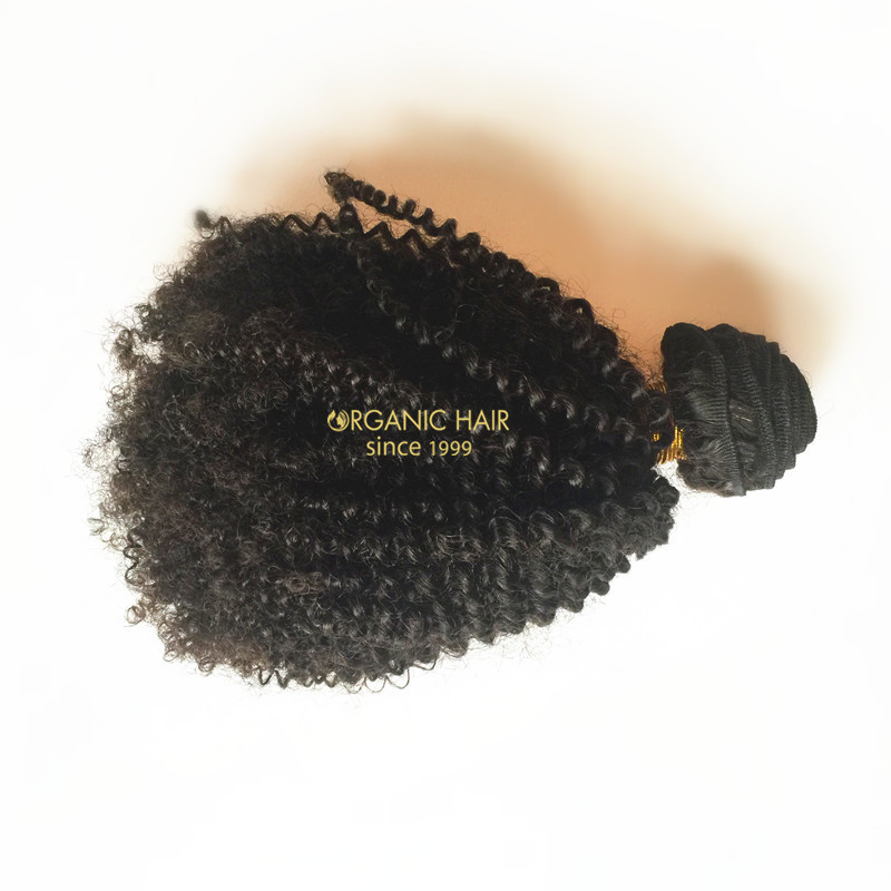 Full cuticle afro kinky curly human hair weave wholesale