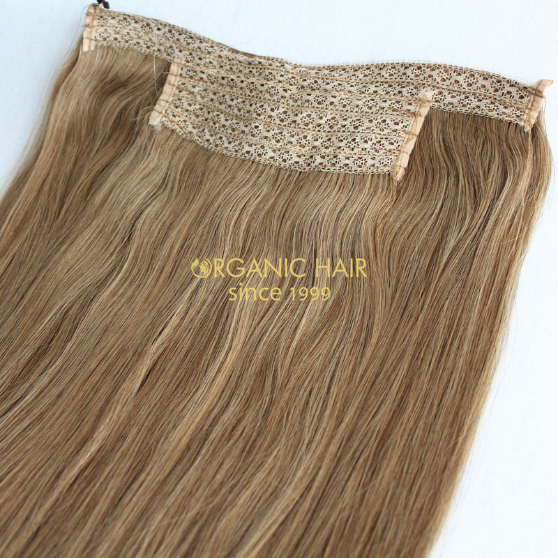 Full cuticle halo hair extensions introduce