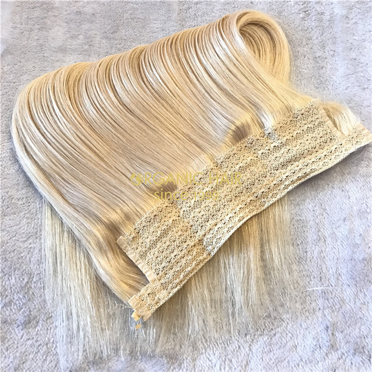 Cheap halo hair extensions and good reviews platinum color X79
