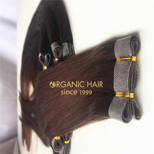 Hand Made Pu Skin Weft Indian Hair Weave China Oem Hand Made Pu