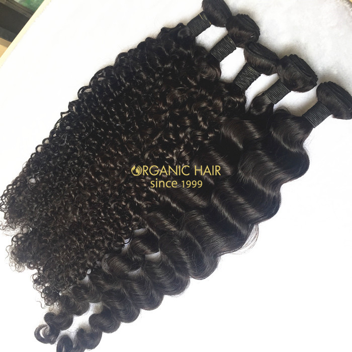 High quality virgin brazilian human hair extensions for black women