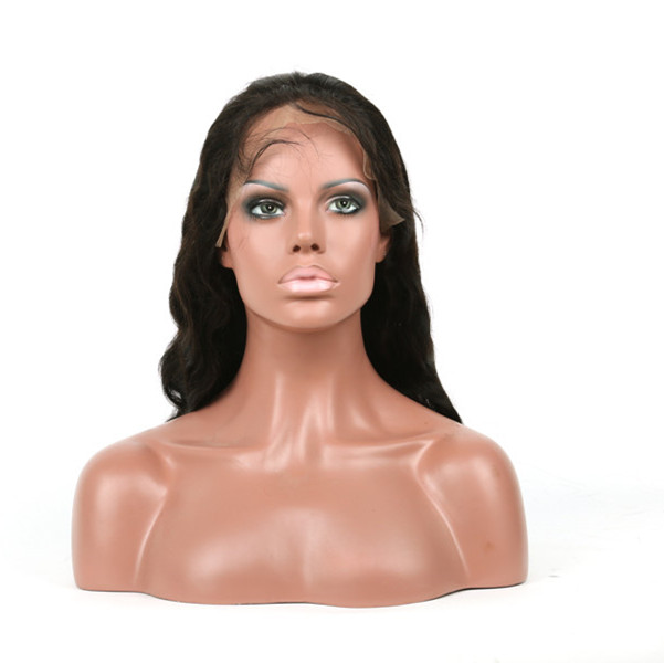 Human hair lace front wigs with baby hair