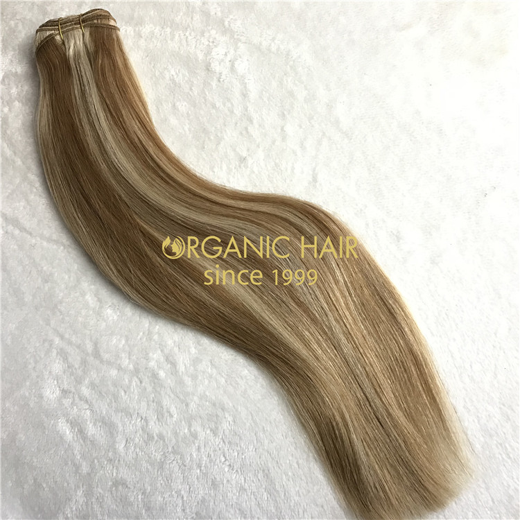 Human hair machine weft #8/22color on sale X119