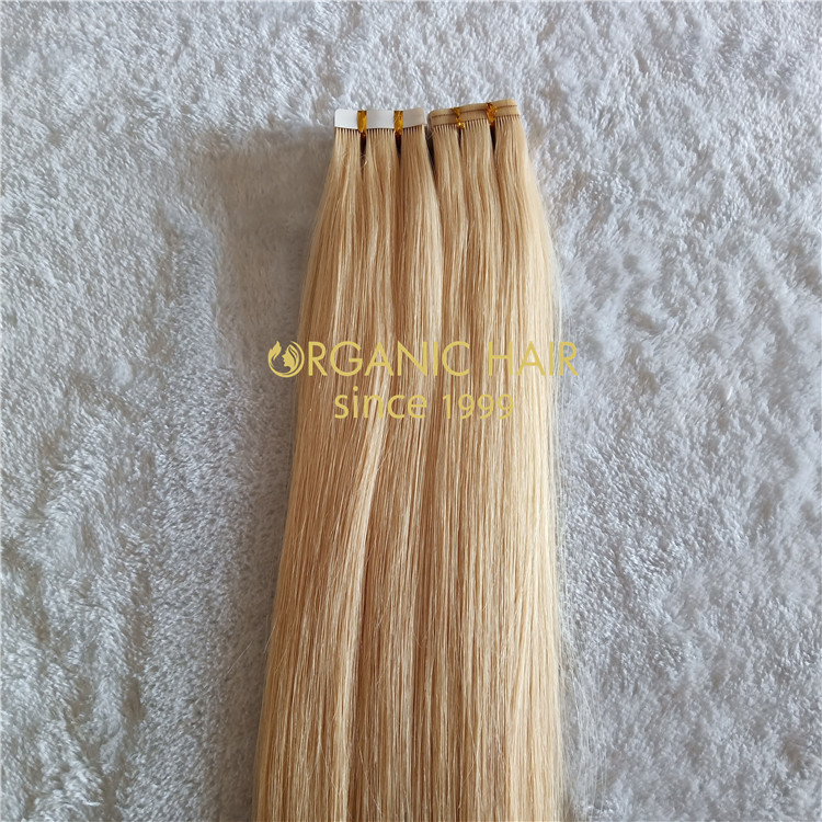 Human customized tape in hair extennsions X180