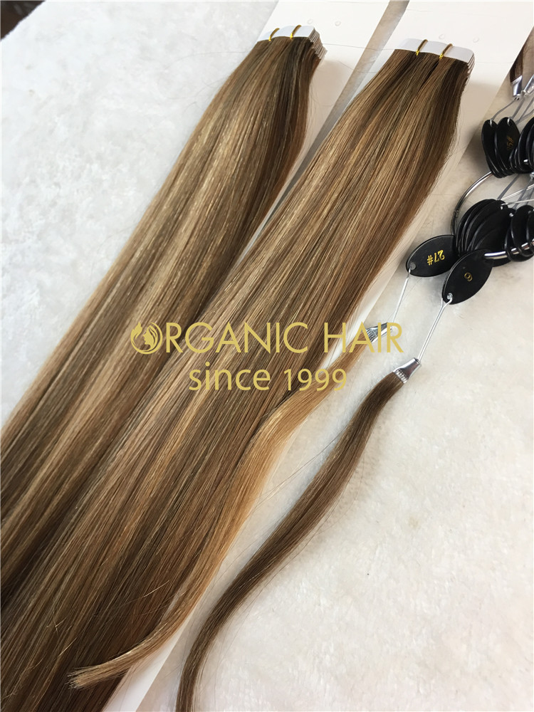 Remy Human Hair Tape In Hair Extension Double Drawn All Color One