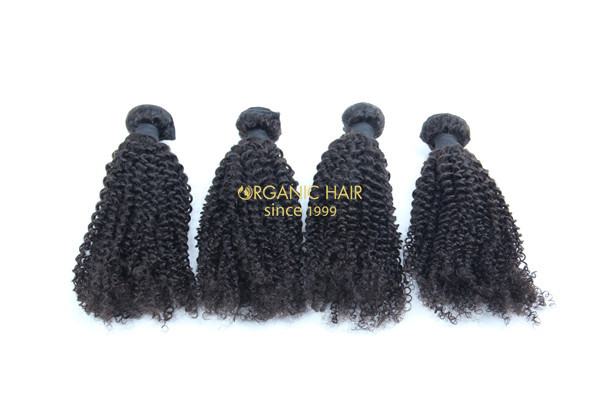 Kinky curly mikly way human hair extensions