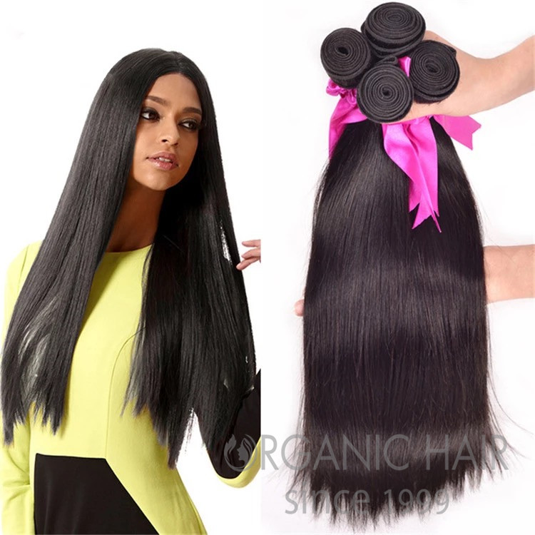 Long human hair extensions for short hair