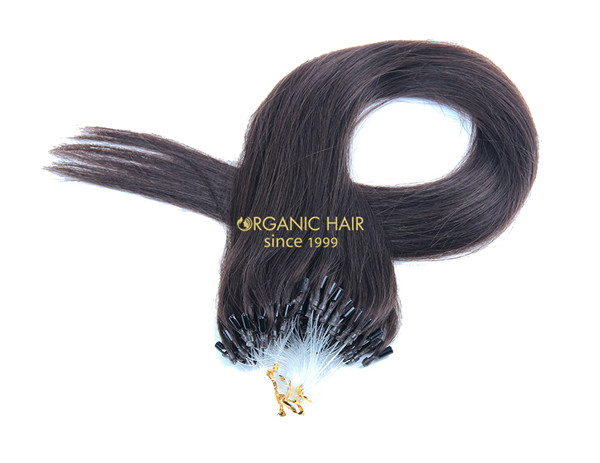 Micro bead hair extensions natural hair extensions #2