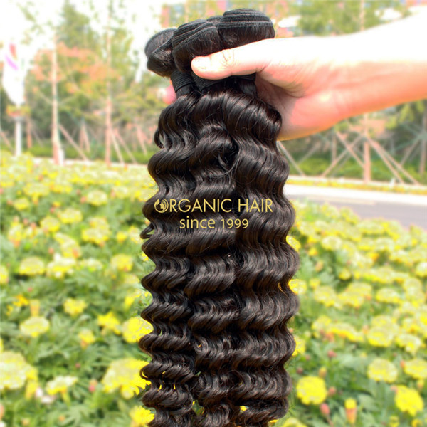 Natural remy human hair weave