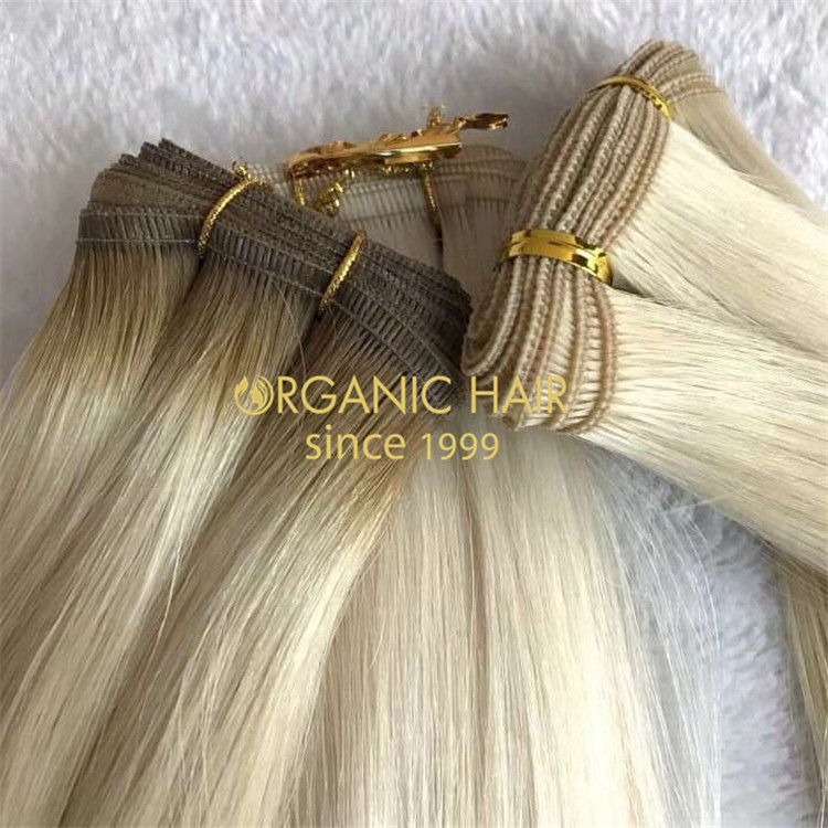 New hair-Hybrid hair weft or flat weft hair with top quality A108
