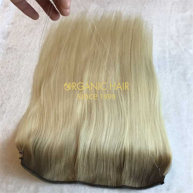 No clips-100% russian double drawn flip in hair extension A119